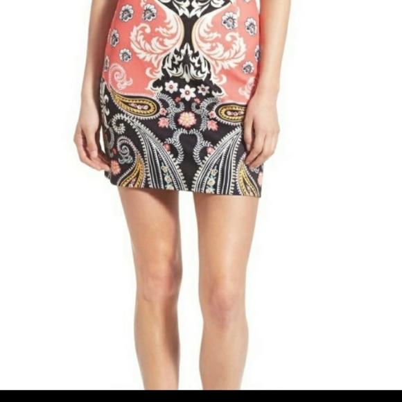 MINKPINK Floral and Paisley Mini Skirt